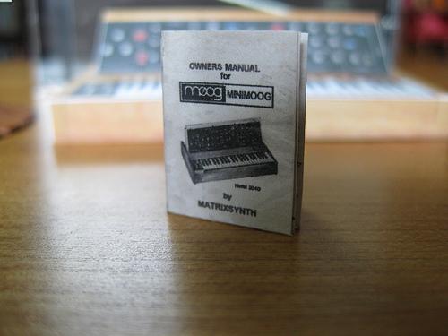 Microscopic Moog & manual