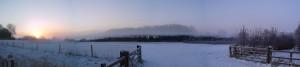 Fog Miasma Over a Country Stream